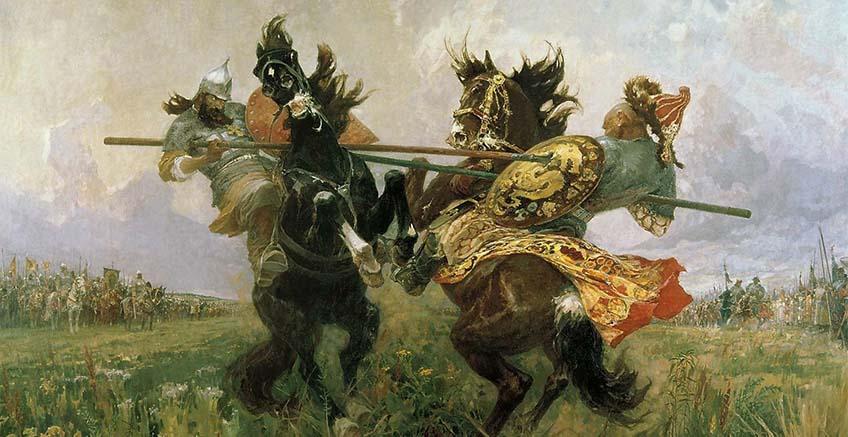 """Фрагмент картины М.И. Авилова """"Поединок"""""""